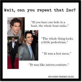 Zac Posen on Project Runway